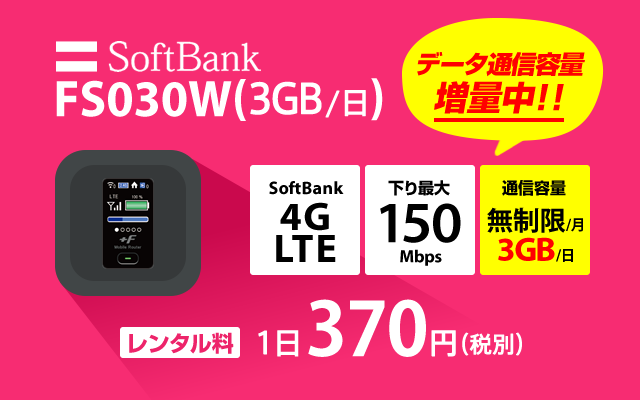 SoftBank FS030W(3GB/日)